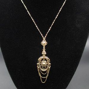 Vintage 18 Inch 1928 Brand Stylish Ornate Necklace